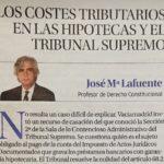 LOS COSTES TRIBUTARIOS EN LAS HIPOTECAS Y EL TRIBUNAL SUPREMO
