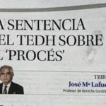 LA SENTENCIA DEL TEDH SOBRE EL 'PROCÉS'