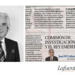 COMISIÓN DE INVESTIGACIÓN Y EL REY EMÉRITO