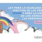 CLAVES DEL ANTEPROYECTO DE LA LEY TRANS Y DERECHOS LGTBI